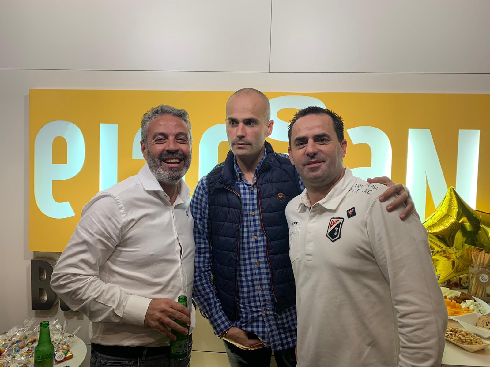 Izq. a der. Jose María Sánchez, José Miguel García y Jose María López