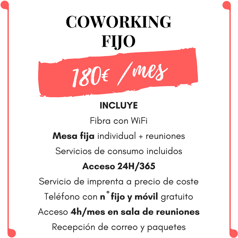 Coworking pase mensual