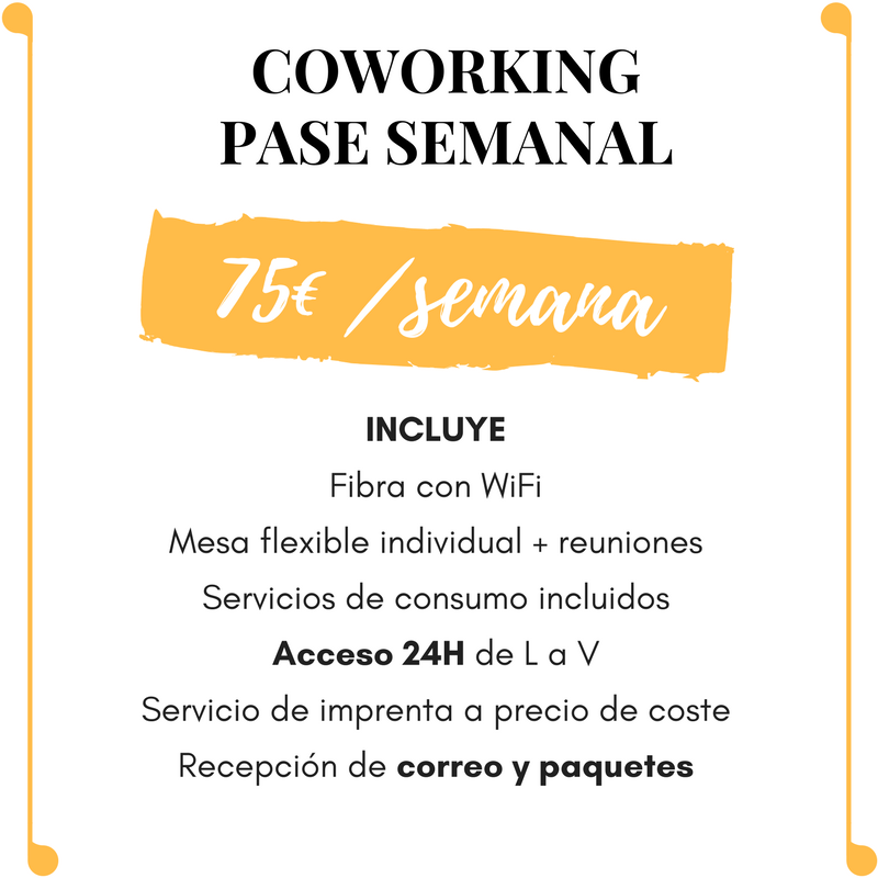 Coworking pase semanal