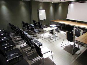 Sala de reuniones. Montaje auditorio