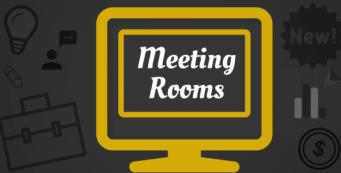 ¿Cómo puedo elegir una sala para hacer reuniones?