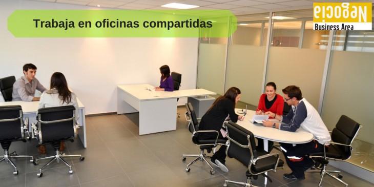 Trabaja en oficinas compartidas